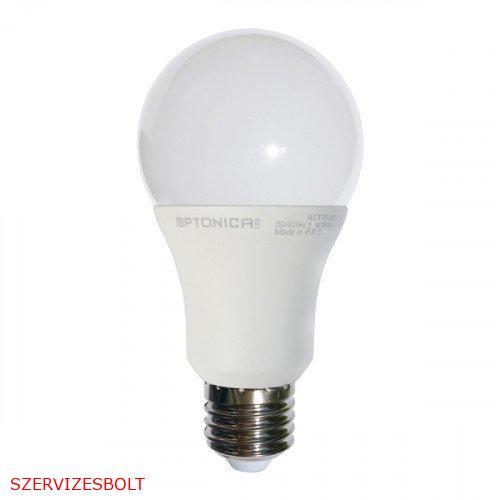 LED lámpa , égő , körte , E27 foglalat , 7 Watt , természetes fehér