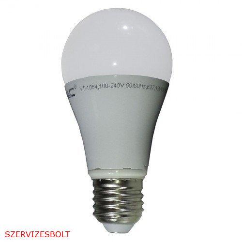 LED lámpa , égő , körte , E27 foglalat , 10 Watt , természetes fehér