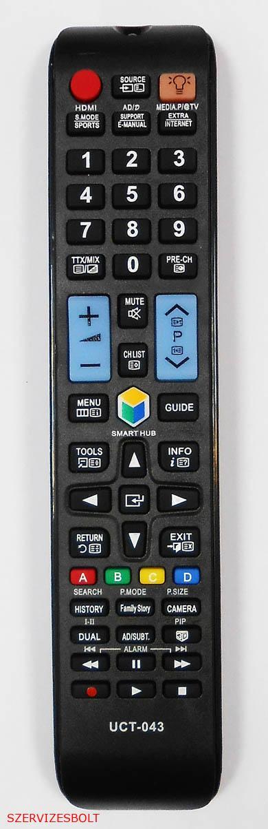 UCT043  távirányító, Samsung Smart LCD és LED TV-hez